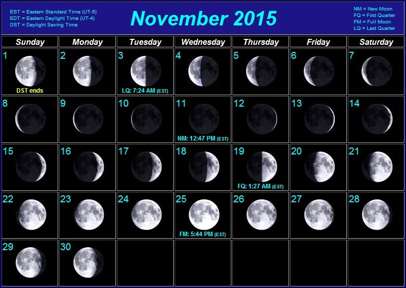 Calender for 2015 with moon phases and best fishing for Fishing moon phase